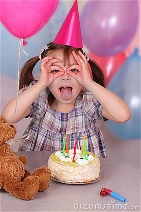 birthday  funny  girl royalty  stock image