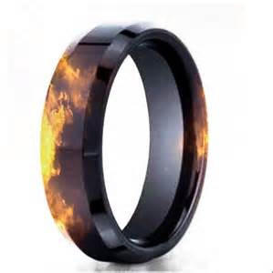 firefighter wedding rings black gold effect wedding band firefighter stuff wedding black gold and band