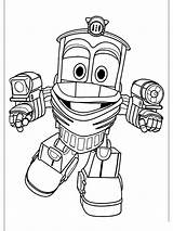Robot Coloring Pages Trains Printable Cartoon sketch template