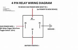 Simple 4 Pin Relay Diagram