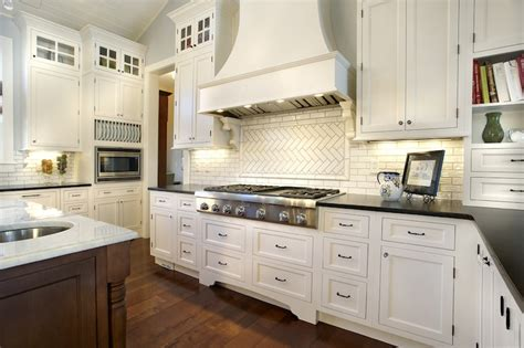 herringbone backsplash transitional kitchen kristin petro interiors