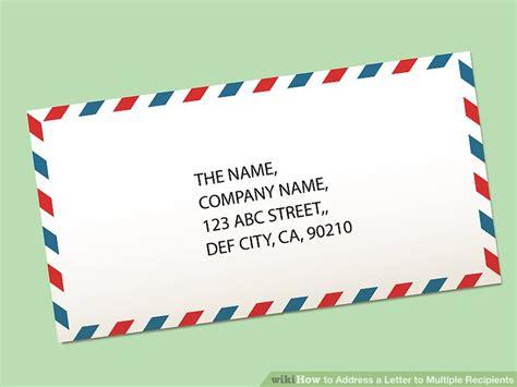 address  letter  multiple recipients  steps