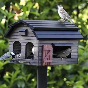 Mangeoire Oiseaux Sur Pied : maison oiseaux exterieur ~ Teatrodelosmanantiales.com Idées de Décoration