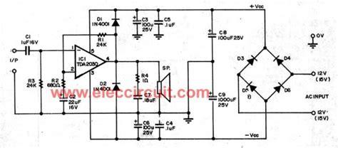 tda2030 audio lifier circuits eleccircuit