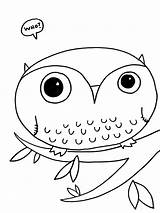 Owl Coloring Pages Printable Owls Cute sketch template