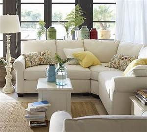 I want buchanan curved 3 piece small sectional with for Small sectional sofa pottery barn