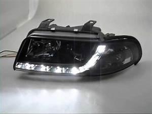 A4 B5 Scheinwerfer : sw drl scheinwerfer audi a4 b5 facelift black led ~ Kayakingforconservation.com Haus und Dekorationen