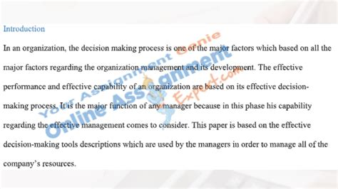 business decision making assignment  upto