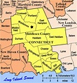 Map of Towns in Middlesex and new haven County ct   Modern ...