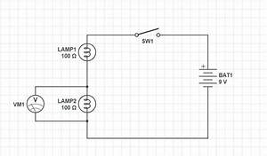 How To Draw A Circuit Diagram For 2 Light Bulbs  A Switch