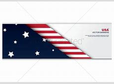 American flag banner Vector Image 1492901 StockUnlimited