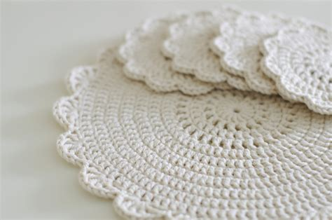 shabby chic placemats handy crafter shabby chic doilies and placemats