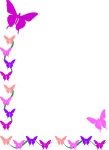 Butterflies Border Clip Art