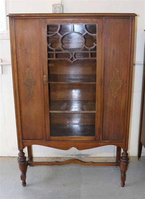 antique china cabinets antique solid wood china cabinet scroll glass front