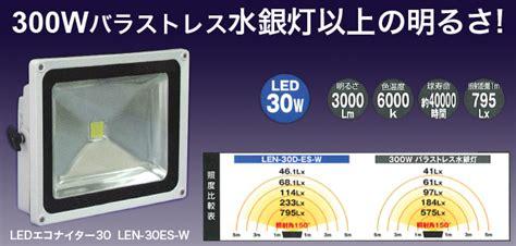 Led Len by Ledエコナイター Len 30d Es W 商品ページ 日動工業ledエコナイター 明るい 大人気 大特価