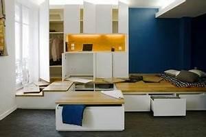 Lit Petit Espace : lit rangement petit espace ~ Premium-room.com Idées de Décoration