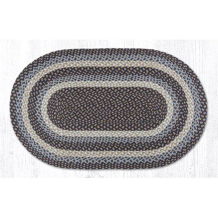 Blue Oval Rug by Earth Rugs C 743 Blue Oval Braided Rug 27 Quot X 45 Quot Walmart