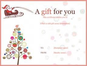 jolly simple christmas gift certificate template