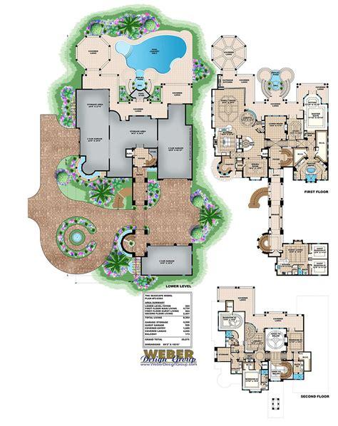 mediterranean house plan luxury beach mansion home floor plan