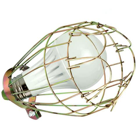 metal wire bulb guard cl on l vintage trouble light