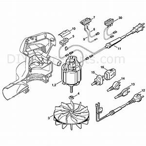 Stihl Electric Blowers  Be55  Parts Diagram  Electric