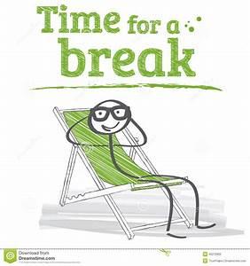 Time for a break stock illustration. Illustration of ...