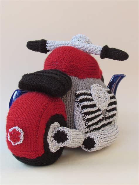 motorcycle tea cosy knitting pattern