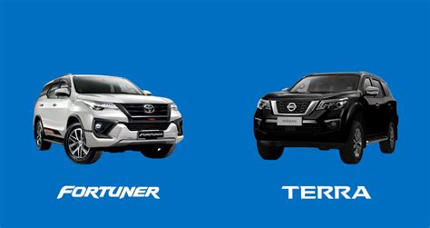 car comparison nissan terra  vl  toyota fortuner