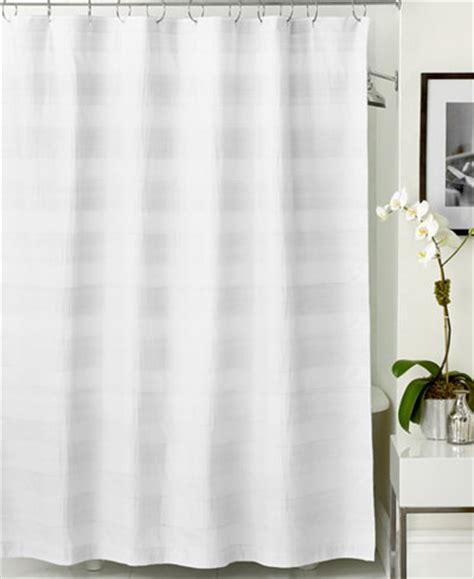 Hotel Collection Woven Pleat Shower Curtain Shower