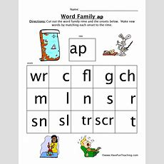 Word Family Worksheet  Ap  Have Fun Teaching