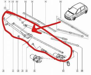 Renault Clio Iii 2006 2013 New Front Wiper Linkages