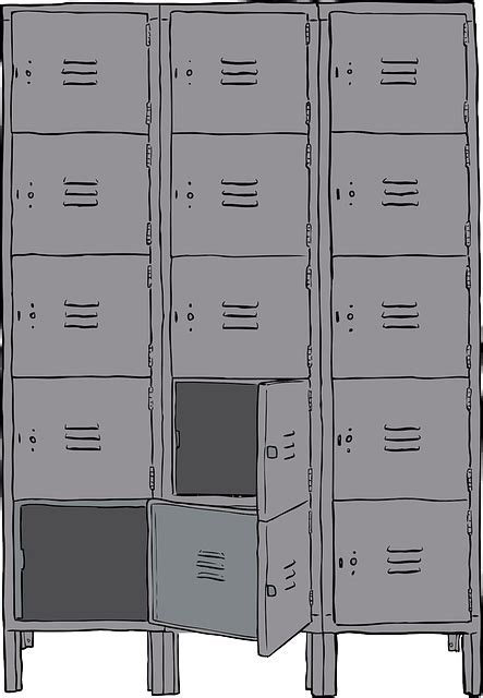 Free vector graphic: Lockers, Metal, Cabinet, Students