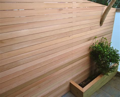 Better Decks Fences by Cedar Horizontal Screening Better Quality Fencing