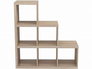 Etagere Escalier Bois : biblioth que escalier 6 cases alvin coloris sonoma vente de biblioth que conforama ~ Teatrodelosmanantiales.com Idées de Décoration