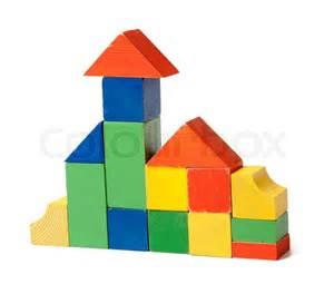 Wooden Building Block House