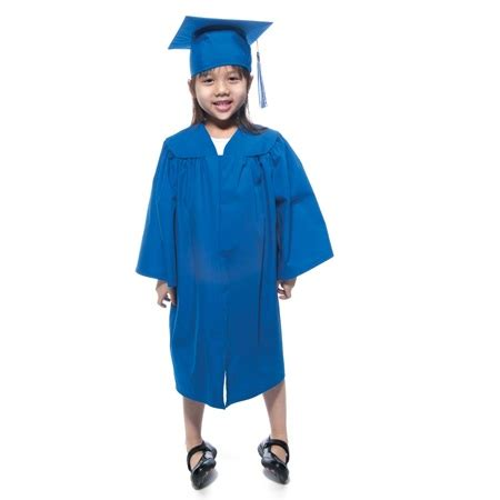 kindergarten matte graduation gown s 119 | elm102 matte graduation gown 000