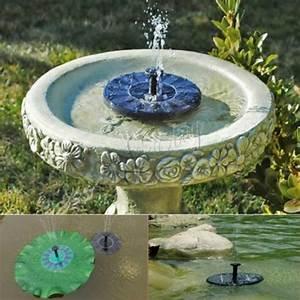 Pumpe Für Gartenbrunnen : 1 4w solar pumpe solar springbrunnen teichpumpe solarpumpe fuer gartenteich neu wasserspiele ~ Eleganceandgraceweddings.com Haus und Dekorationen