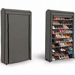 etagere range chaussures 50 paires eco avec sa housse With meuble chaussure grande capacite 12 range chaussures pratique design et elegant