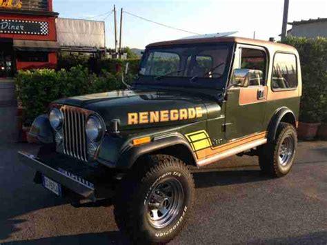 jeep gebraucht kaufen jeep cj7 renegade amc 258 4 2 insgesamt topseller oldtimer car