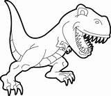 Rex Coloring Dinosaur Printable Tyrannosaurus sketch template