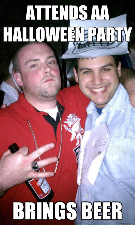 Halloween Party Meme - attends aa halloween party brings beer all new scumbag steve quickmeme