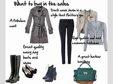 What to buy in the sales Polyvore, Capsule wardrobe and
