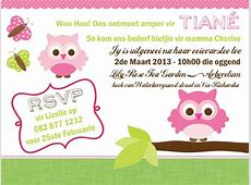 Owl baby shower invitation Afrikaans Get Crafty