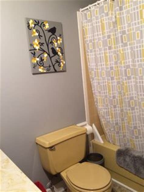 homann s harvest gold bathroom before and after