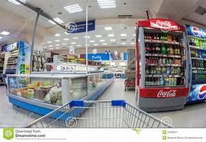 Interior Of The Supermarket Perekrestok. Editorial Photo ...