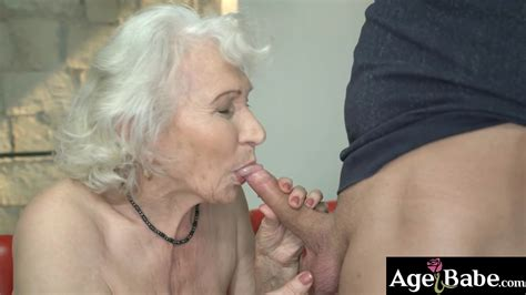 Granny Norma Ride And Bounce Up And Down On Robs Massive