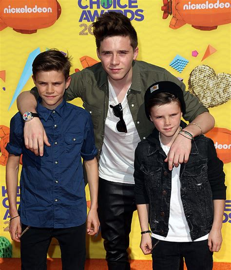 romeo and beckham attend the choice awards in la