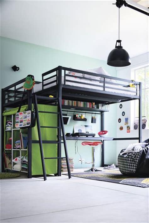 chambre ado avec lit mezzanine inspiration mezzanine vert