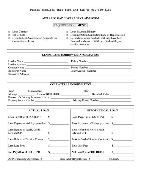 loan template free printable personal loan contract form generic