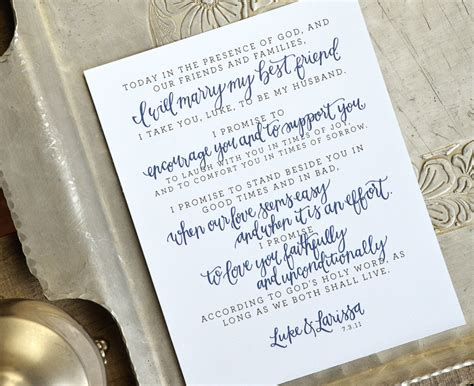 Custom Personalized Wedding Vows/lyrics Art Print Or Printable